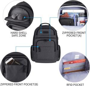 KROSER Sac à Dos ou d ordinateur portable avec poche RFID