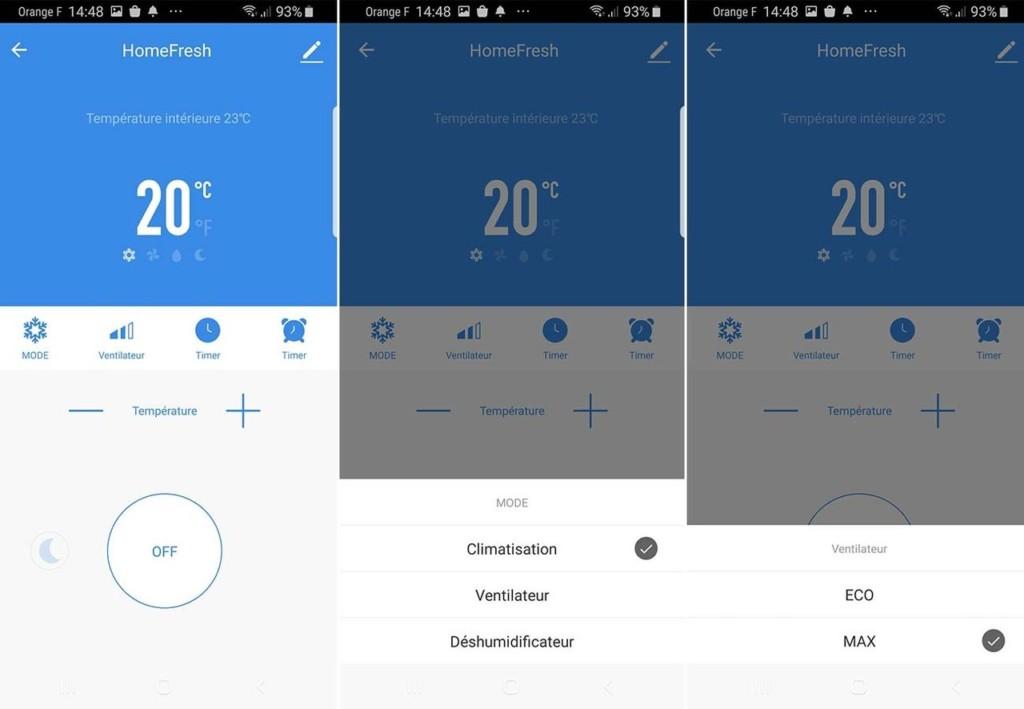 Application Avidsen HomeFresh : un climatiseur connecté compatible Tuya / Smart Life