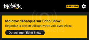 Molotov sur Amazon Echo Show