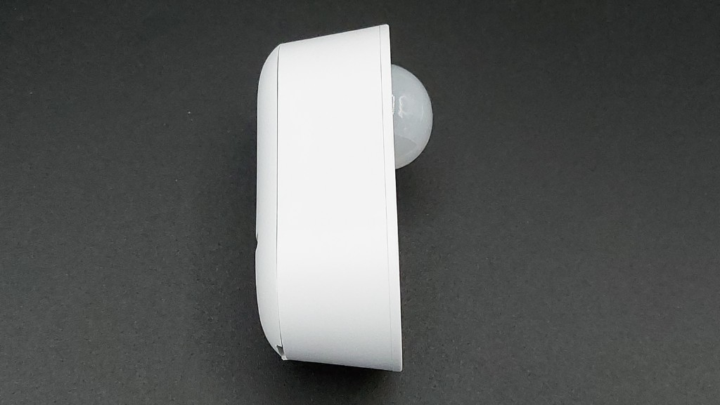 Vue de profil du détecteur de mouvements