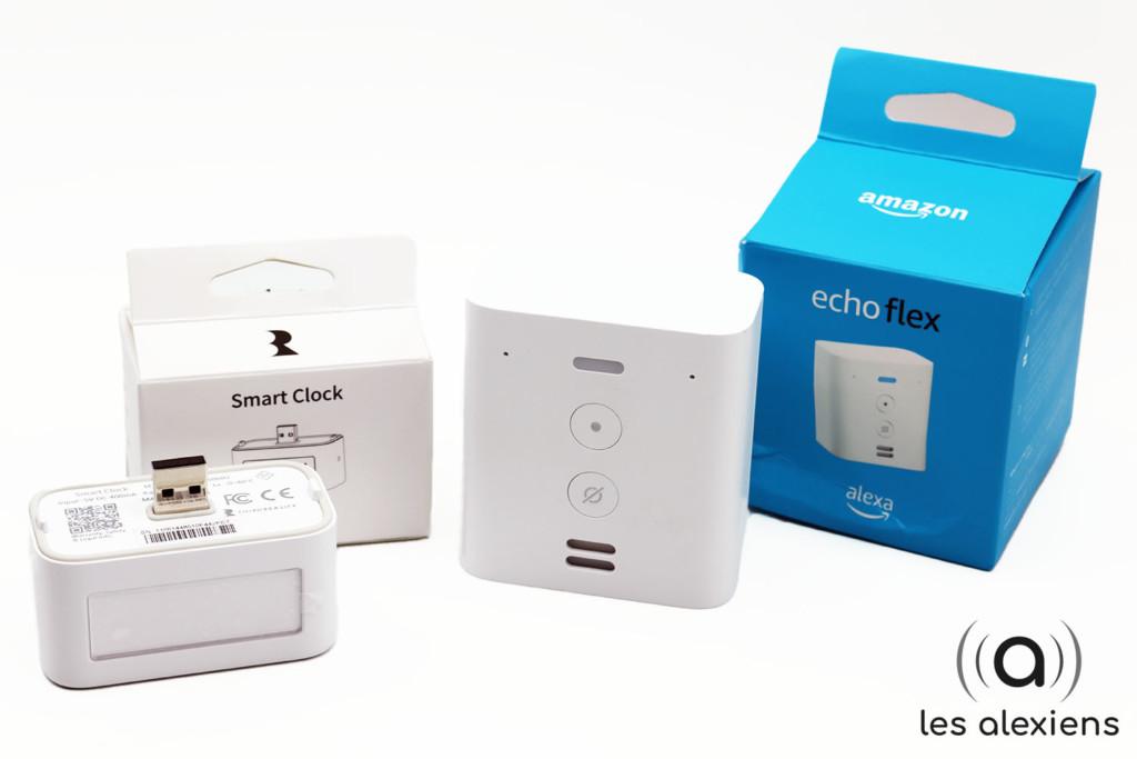 Unboxing d'Amazon Echo Flex et de son horloge connectée pour Alexa