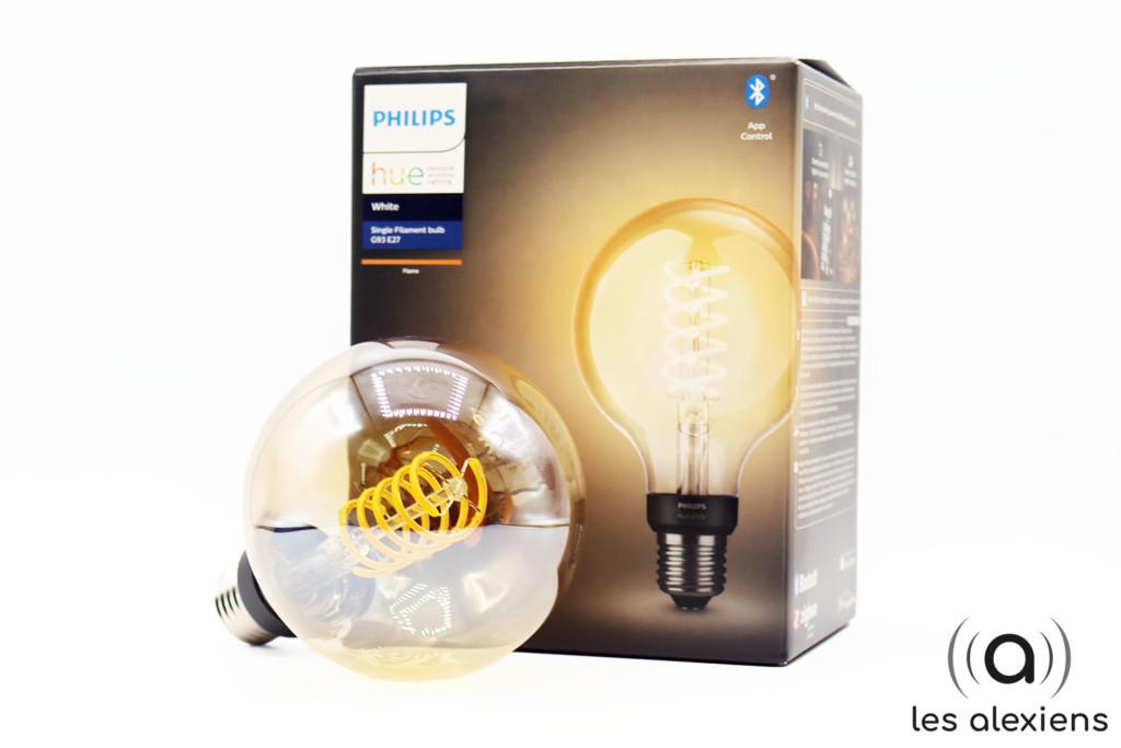 Notre avis sur l'ampoule connectée Philips Hue White Filament E27 en version globe