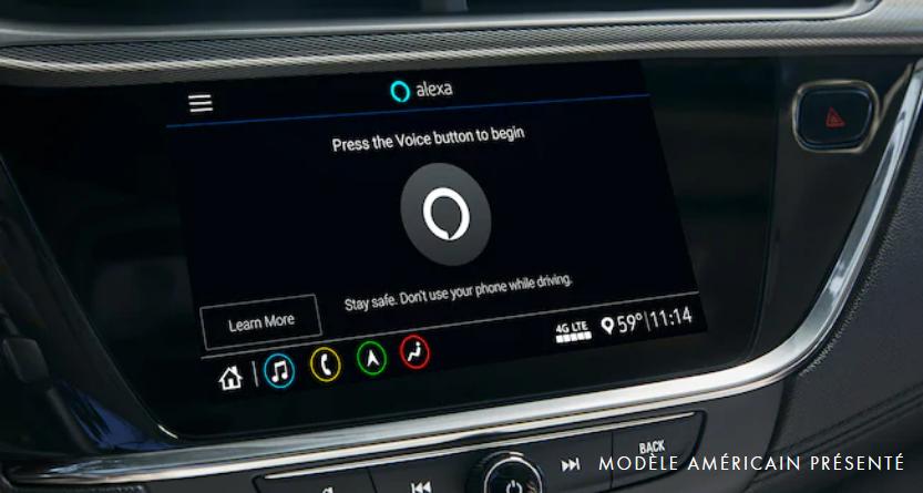 Tableau de bord de la Buick Encore GX avec Alexa intégrée