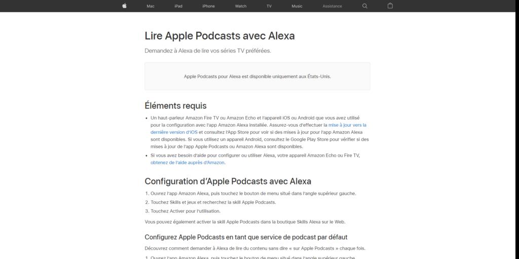 Apple Podcasts arrive sur Alexa en France
