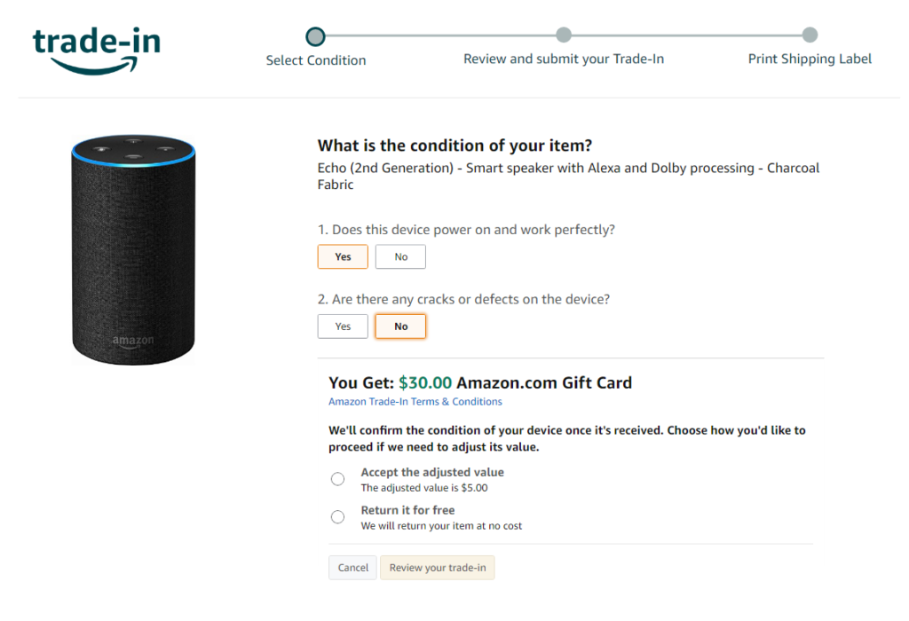 Reprise Amazon Echo 2 contre Echo 4