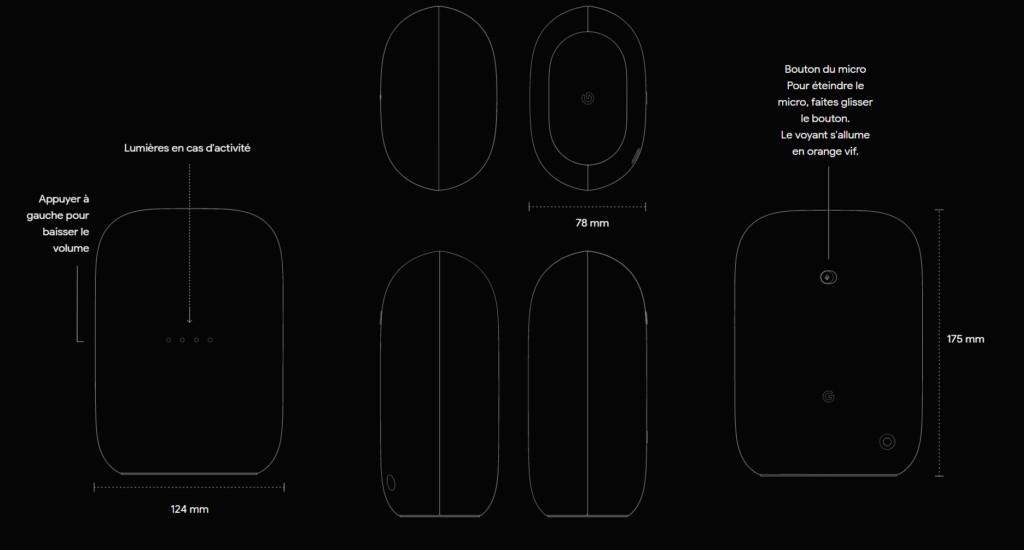 Nest Audio : tailles, poids, caractéristiques