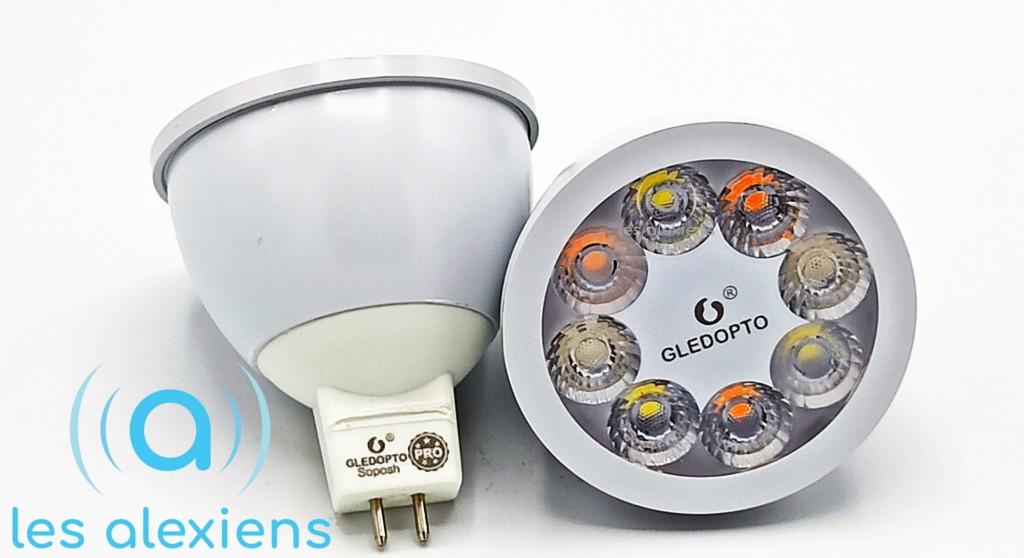 GLEDOPTO MR16 : des ampoules spot GU5.3 connectées en ZigBee / RF
