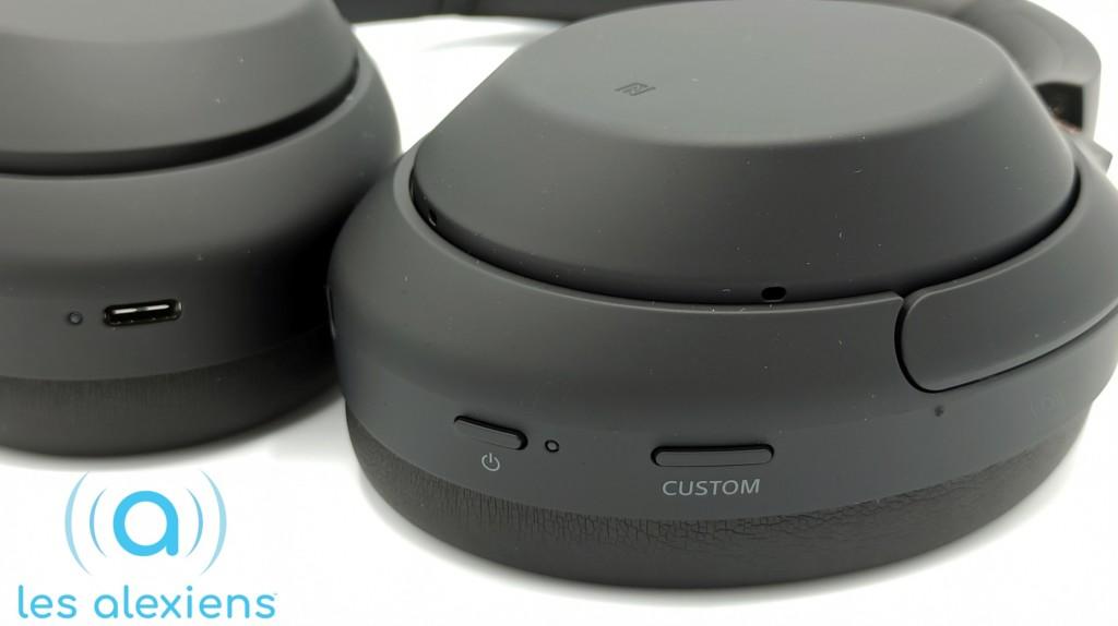Les boutons présents sur le casque