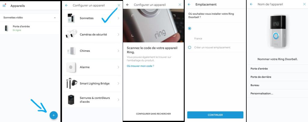 Utilisation de l'application Ring