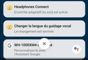 Sony WH-1000XM4 avec Google Assistant