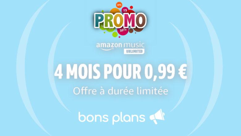 Amazon Music en promo pour 0.99€ pendant 4 mois