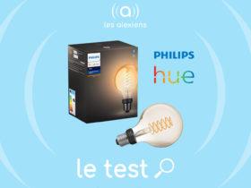 Notre avis sur l'ampoule Philips Hue White FIlament E27 dans sa version globe