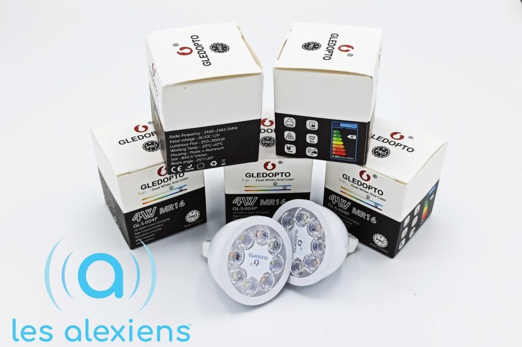 Test des ampoules GLEDOPTO MR16 : des spots GU5.3 en ZigBee