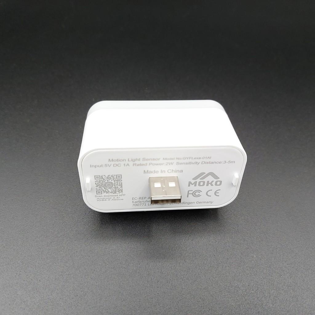 MoKo se branche sur le port USB de Echo Flex
