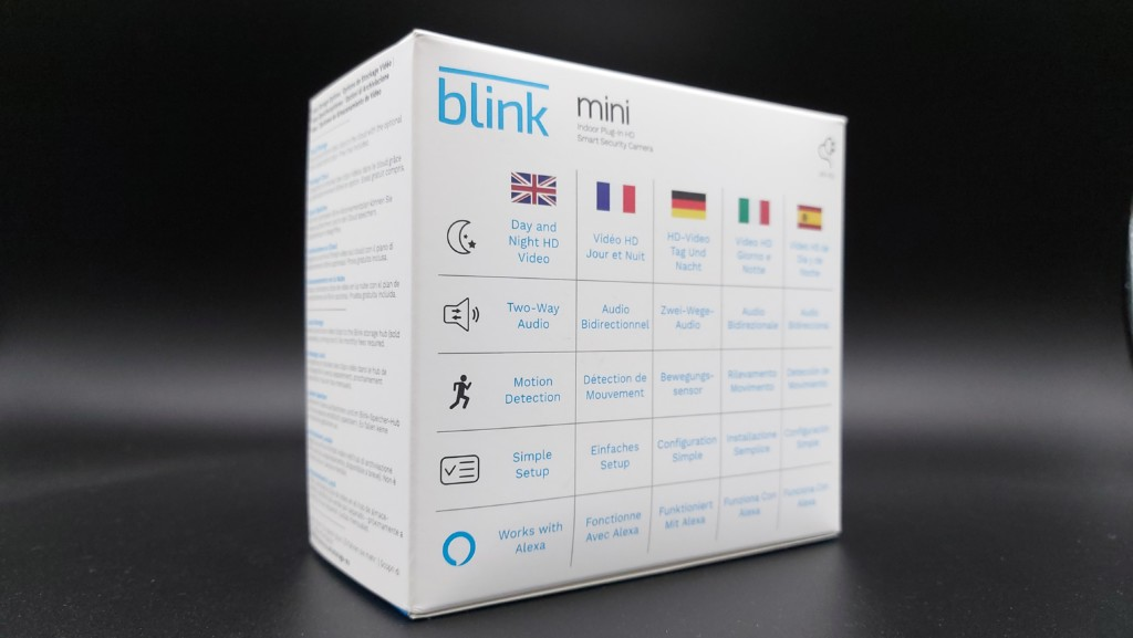 Le packaging Blink Mini