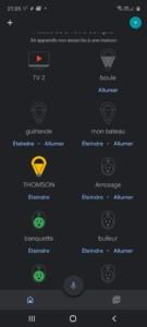 L'ampoule Thomson Diane LED dans Google Home