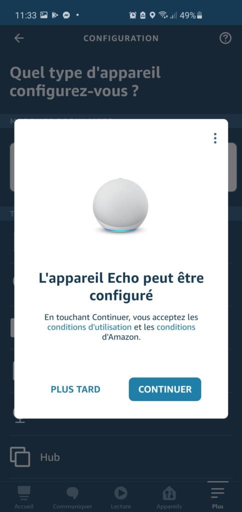 Invitation de l'application qui détecte Echo 4 toute seule !
