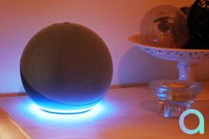 Les LED d'Echo 4 créent un halo lumineux du plus bel effet !