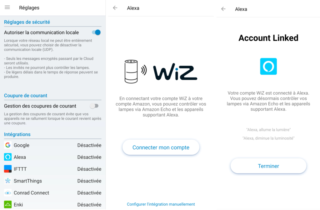 WiZ Colors : utilisation avec Amazon Alexa