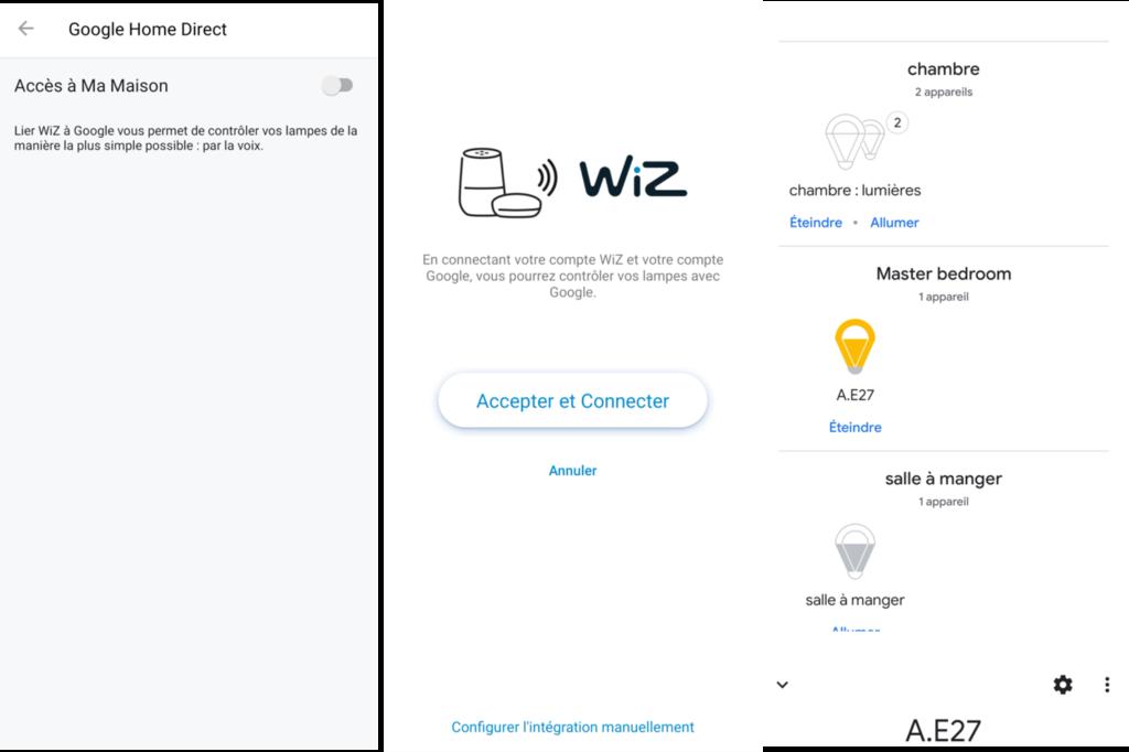 WiZ Colors : utilisation avec l'Assistant Google Home