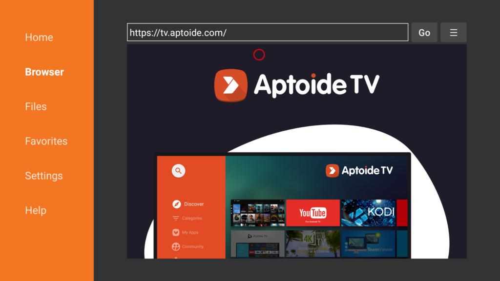 Recherchez Aptoide TV