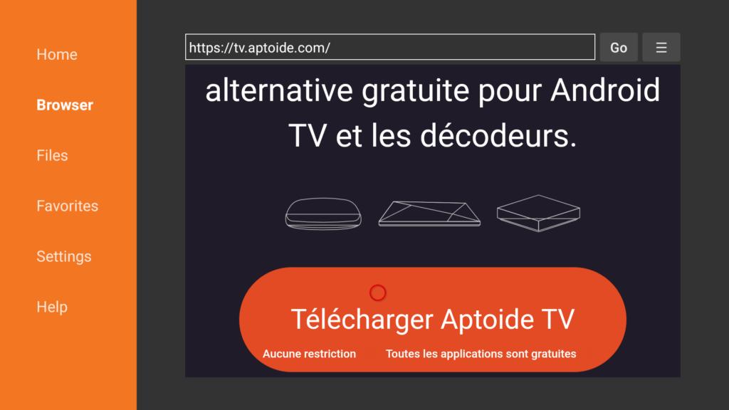 Téléchargez Aptoide TV