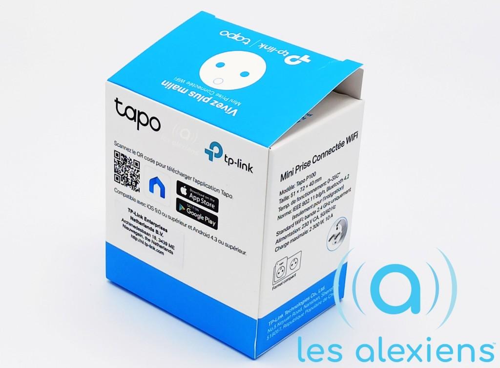 L'emballage de la Tapo P100 de TP-Link