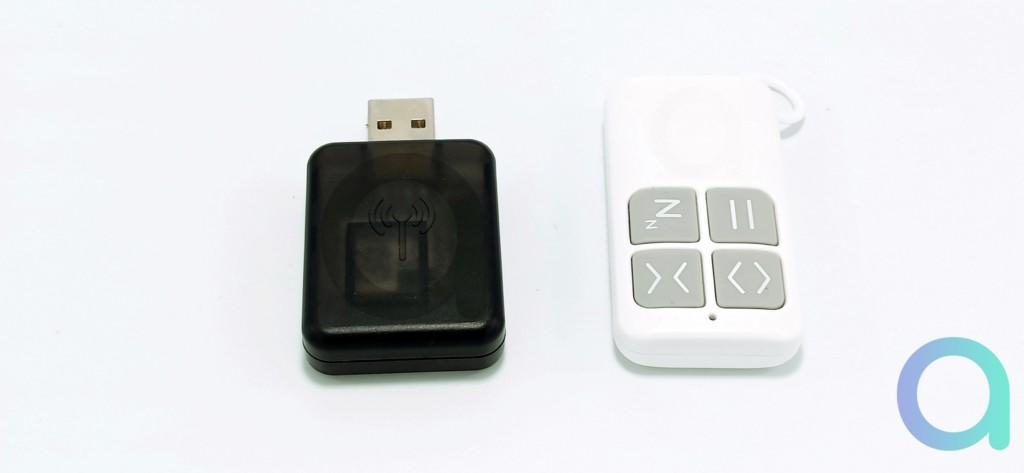 dongle Wi-Fi et télécommande RF
