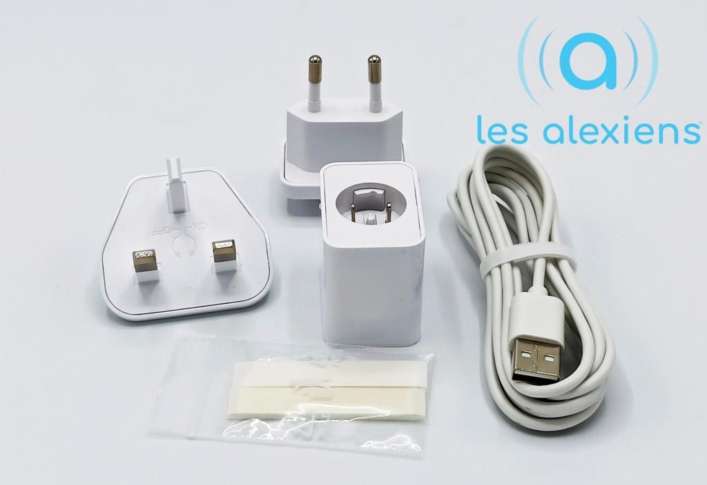 Les accessoires fournis avec le themostat connecté pour climatisation et PAC