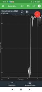 Mesure du son sur la Sony SRS XB-43