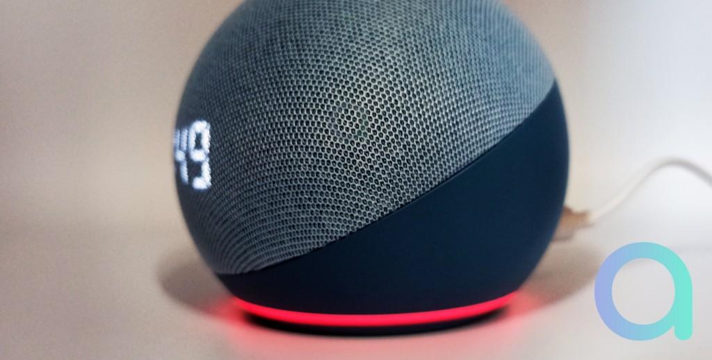 Echo Dot 4 en mode mute