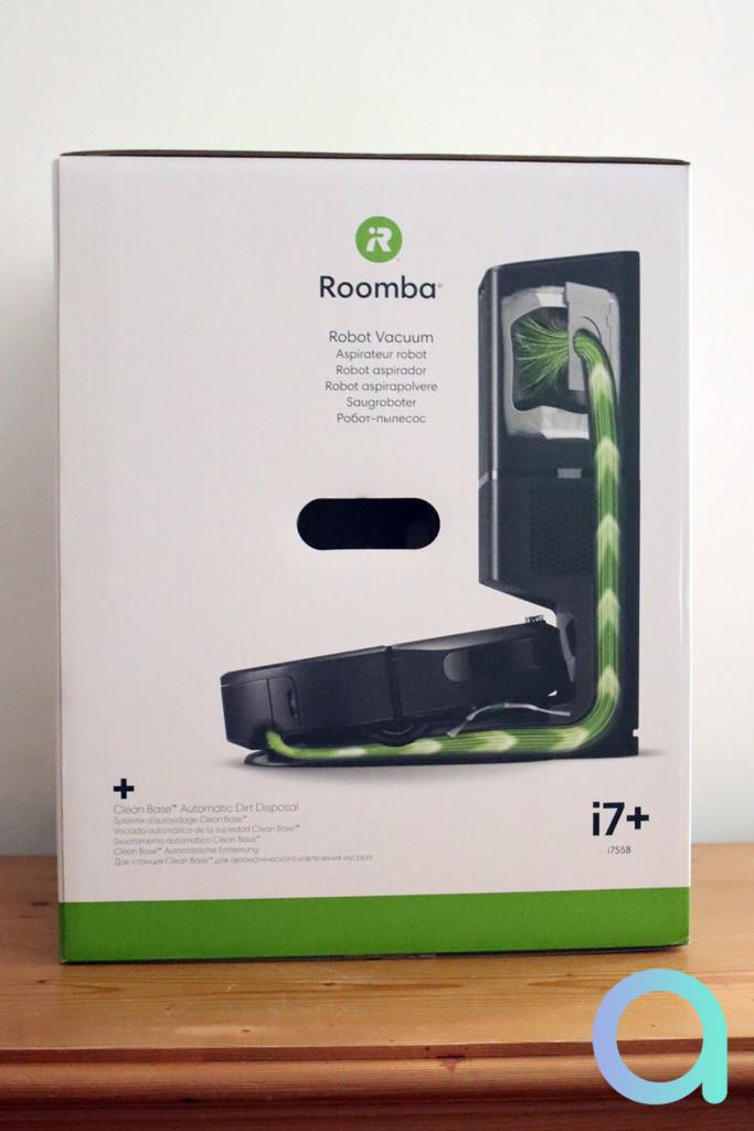 Packaging Romba i7+ de iRobot