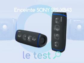 Notre avis sur l'enceinte Sony SRS-XB43