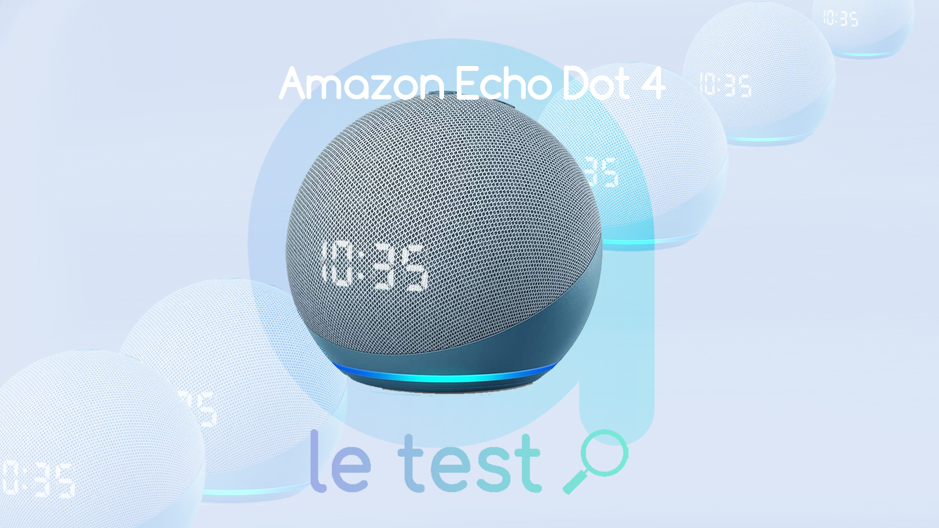 Blanc 4e g/én/ération Nouvel Echo Dot avec horloge Fonctionne avec Alexa Prise connect/ée WiFi Smart Plug