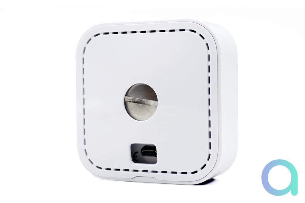 L'arrière de la caméra compatible Alexa