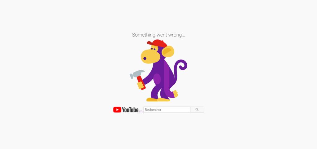 """YouTube down : problème sur le service de Google avec une page d'accueil """"Something went wrong"""""""