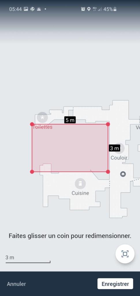 Créer des zones interdites dans iRobot Home