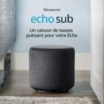 Avis et prix de Echo Sub pour les enceintes Amazon Echo avec Alexa