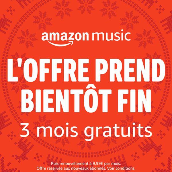 Amazon Music : 3 mois gratuits !