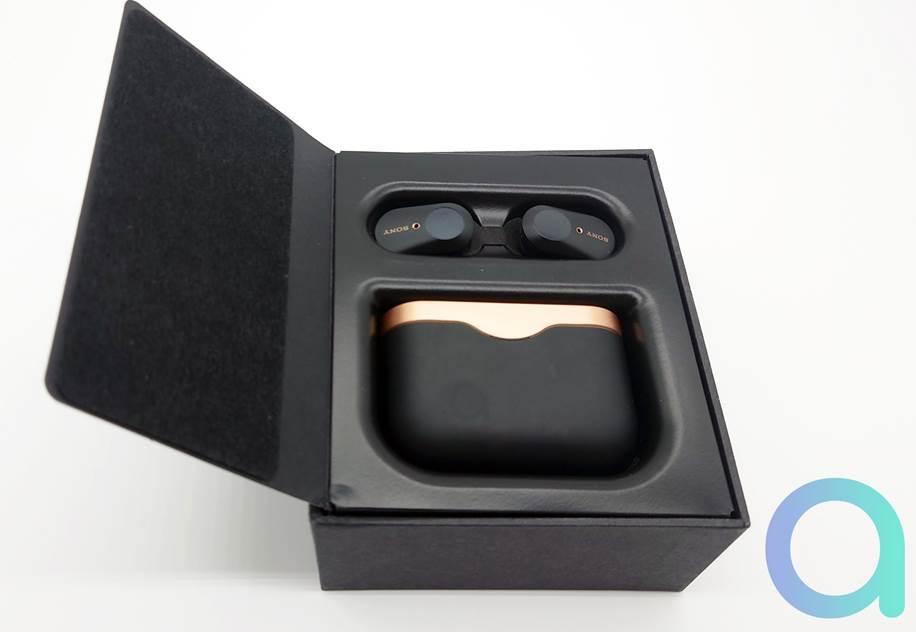 Le ppackaging des écouteurs Sony WF-1000XM3