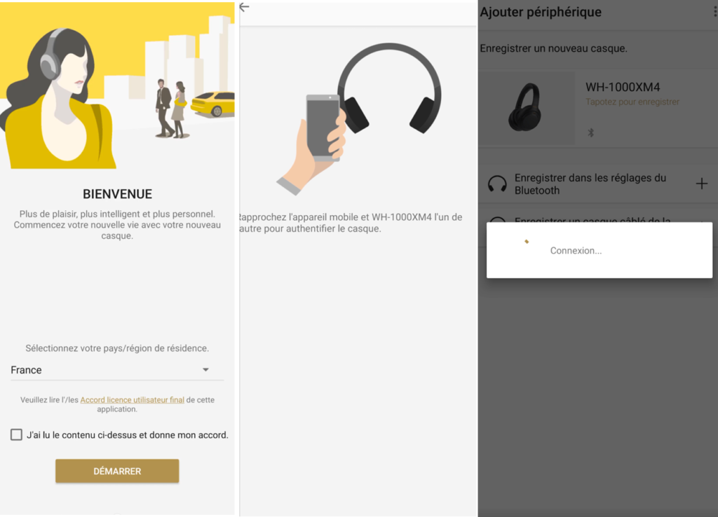 Découverte de l'application Headphones Connect des Sony WP-SP800N
