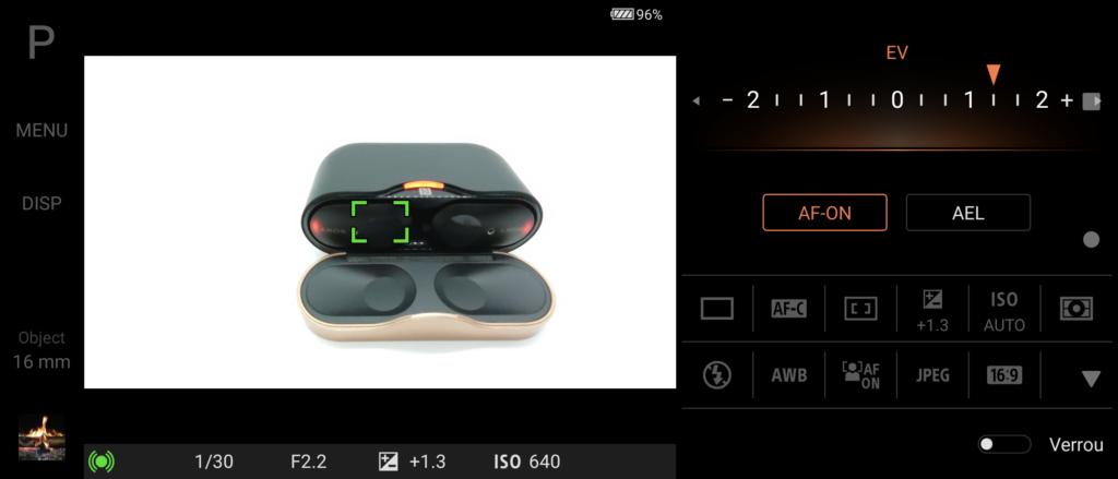 Le logiciel Photo Pro de Sony sur Xperia