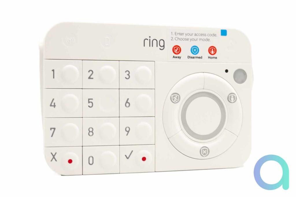 Le clavier Ring Alarm - Vue de face