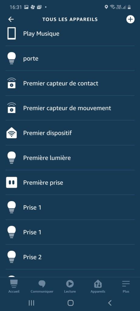 Application Alexa reconnaissance en tant que premier dispositif