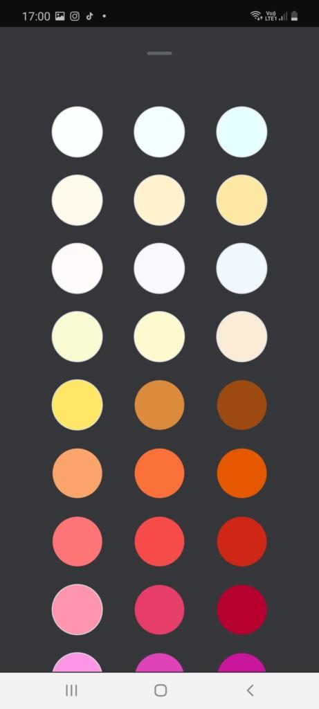 Application Google Home et panel de couleur de la Bloom White and color ambiance