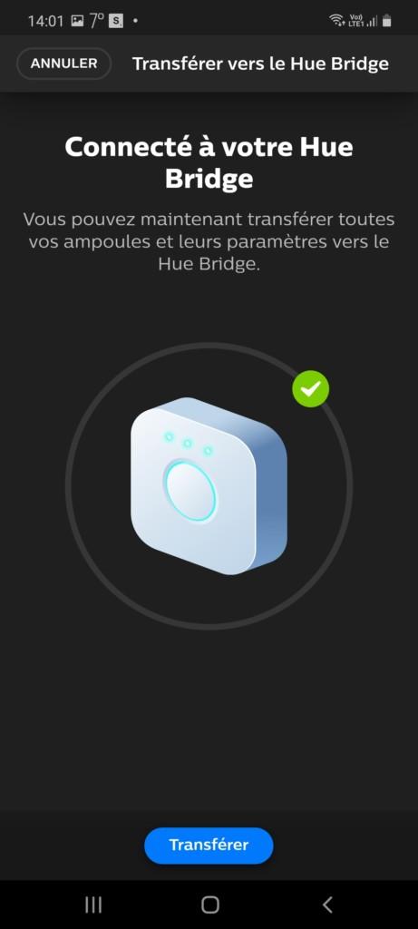 Prise en compte de la lampe Philpe Hue Bloom par le pont En ZigBee