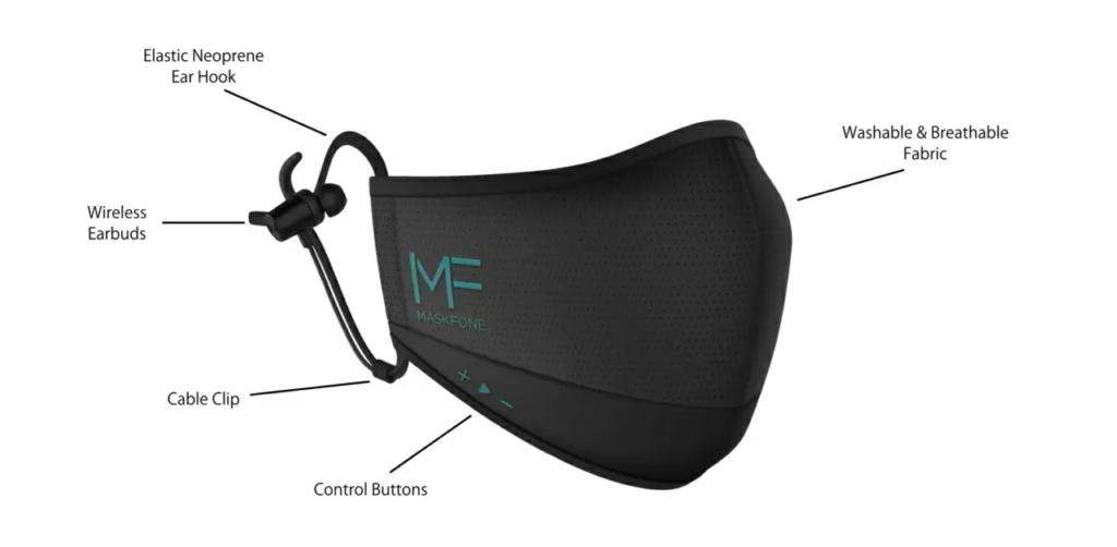 Binatone Maskfone : un masque connecté en Bluetooth avec des écouteurs !