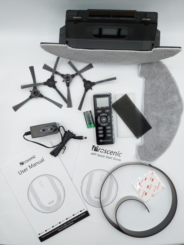 Accessoires fournis avec l'aspirateur robot Proscenic 850T