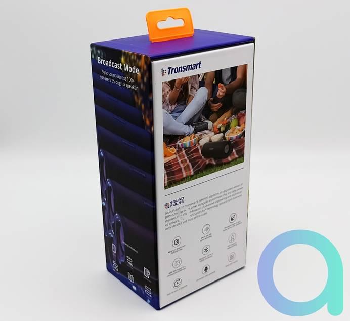 Dos de la boite de l'enceinte connectée Bluetooth Tronsmart Force 2