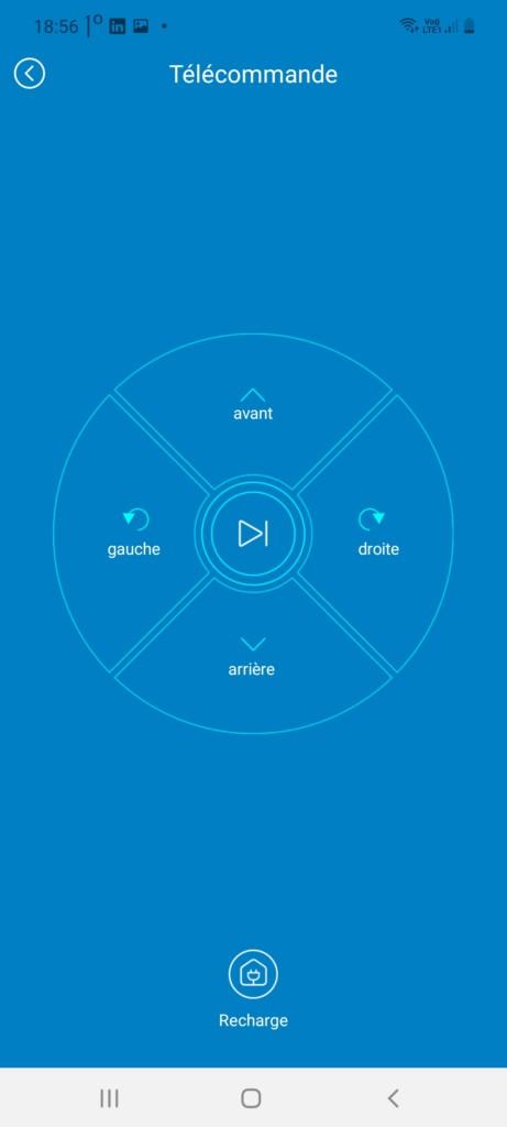 Fonction Télécommande du Proscenic 850T sur l'application ProscnicHome